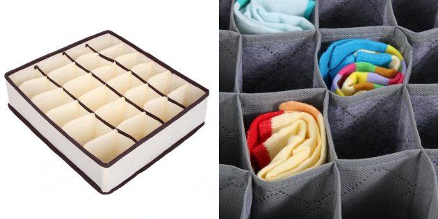 Недорогие подарки на 23Февраля: органайзер для носков