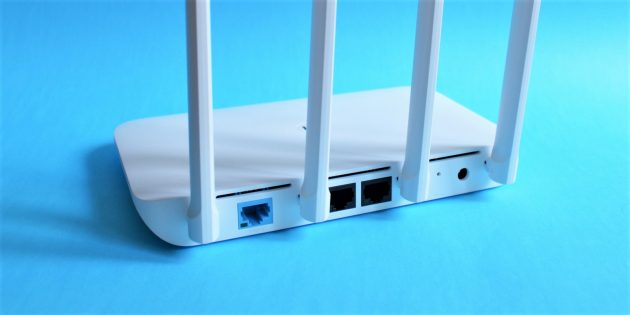 Mi Router 4: Разъёмы