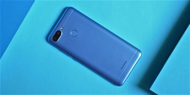 Xiaomi Redmi 6: Задняя сторона