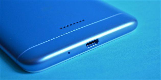 Xiaomi Redmi 6: Нижняя сторона