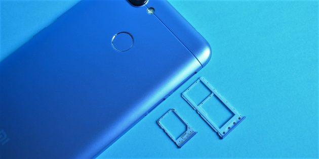 Xiaomi Redmi 6: Лотки симок