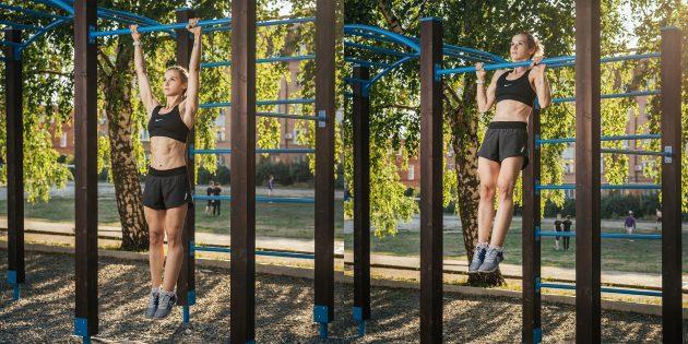Тренировка на улице: Прямой хват