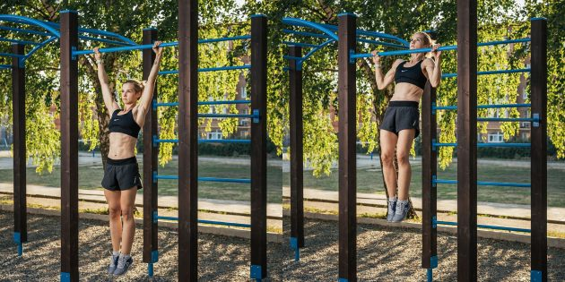 Тренировка на улице: Широкий хват