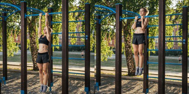 Тренировка на улице: Узкий хват
