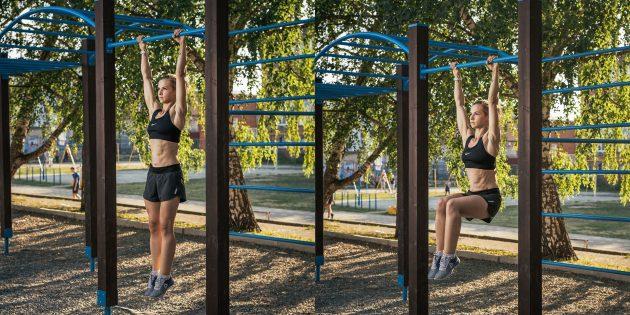 Тренировка на улице: Подъём коленей до прямого угла