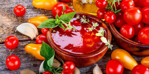 4 рецепта вкусного домашнего кетчупа из свежих помидоров