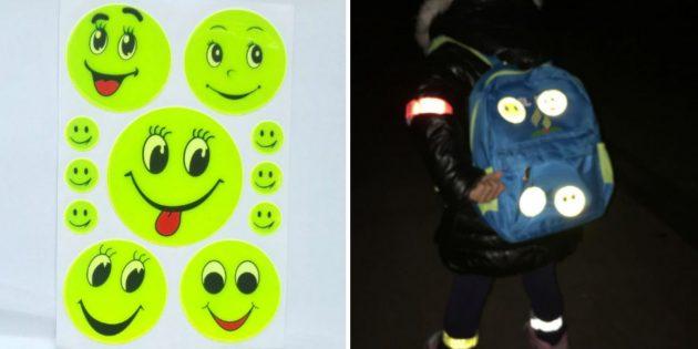 товары для школьников и студентов с AliExpress: Светоотражающие наклейки