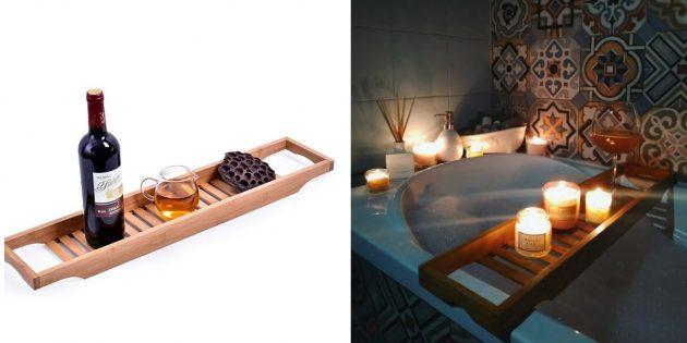 Полка на ванну