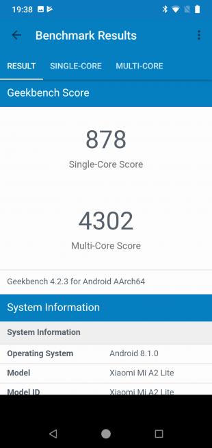 XiaomiMiA2Lite: GeekBench