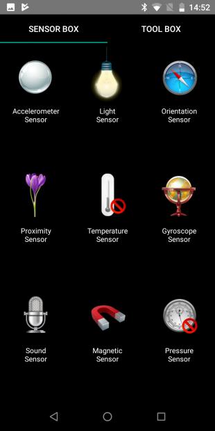 Vernee V2 Pro: SensorBox