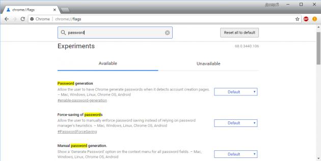 Генератор паролей в Chrome