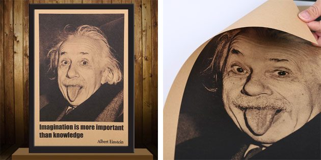 Плакат с Альбертом Эйнштейном