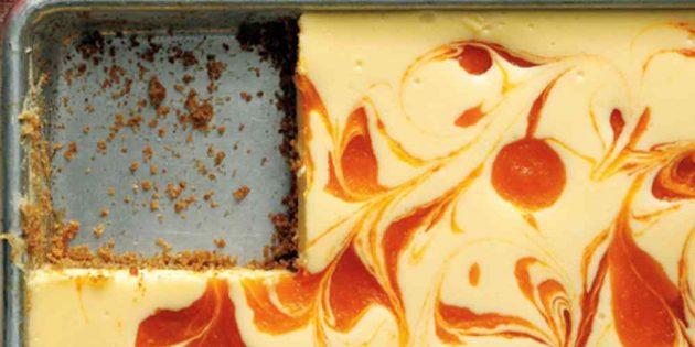 Пирог с абрикосами: Абрикосовый чизкейк со сливочным сыром и сметаной