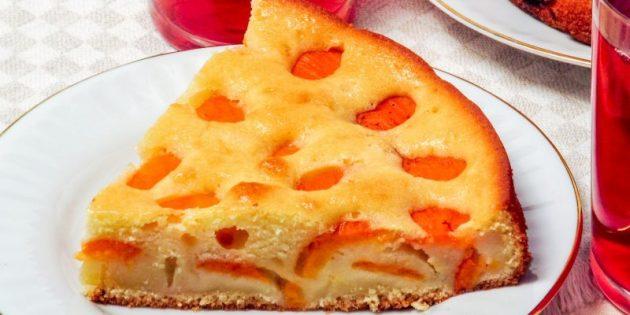 Пирог с абрикосами: Пирог с абрикосами на кефире