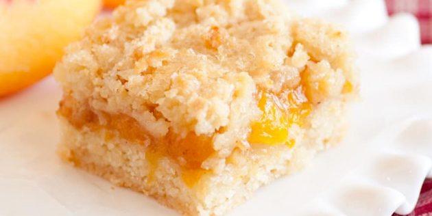 Пирог с абрикосами: Простой насыпной пирог с абрикосами