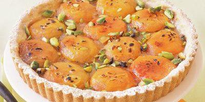 Пирог с абрикосами: Песочный пирог с абрикосами и фисташками
