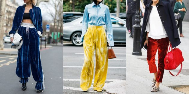 Самые модные женские брюки: Бархатные (велюровые) брюки