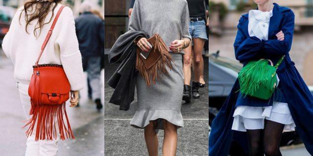 Летняя распродажа одежды и обуви для женщин: Сумочка с бахромой