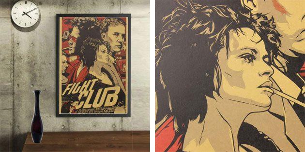 Плакат с героями «Бойцовского клуба»