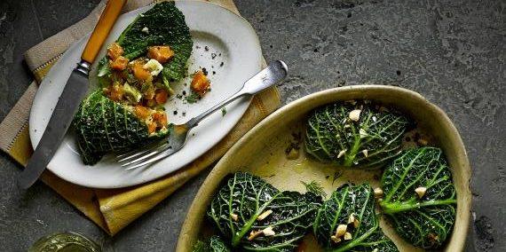Блюда из овощей: Овощные голубцы с фетой