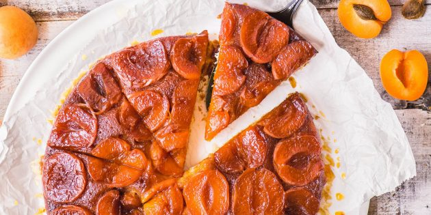 Пирог с абрикосами: Перевёрнутый пирог с карамелизированными абрикосами