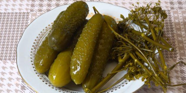 Как солить огурцы: Солёные огурцы с ржаным хлебом