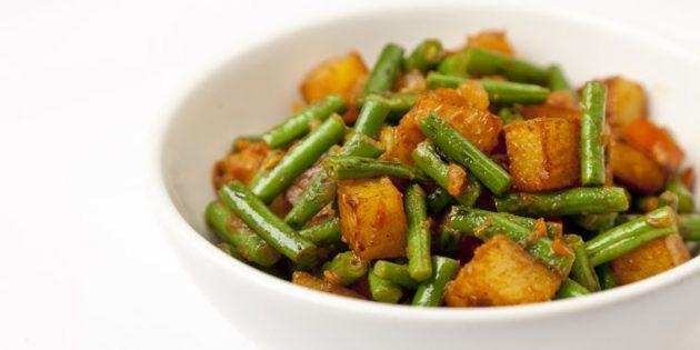 Блюда из овощей: Карри с картофелем и стручковой фасолью