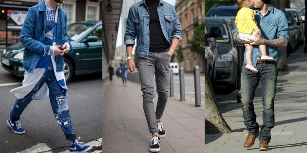 Летняя распродажа одежды и обуви для мужчин: Джинсовые рубашки и куртки