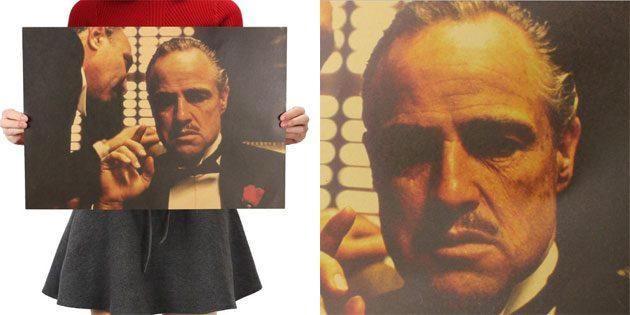 Плакат с Доном Корлеоне