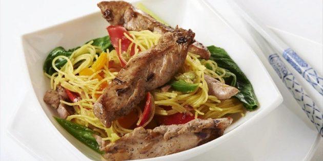 Быстрые и вкусные блюда: Утка с фунчозой