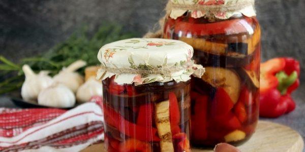 Вкусные баклажаны на зиму: Пряные баклажаны с перцем