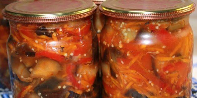 Вкусные баклажаны на зиму: Баклажаны с морковью, перцем и кетчупом