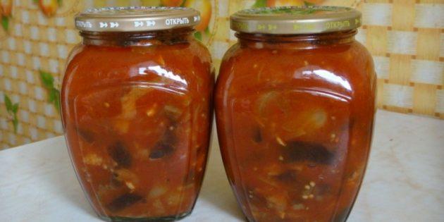 Вкусные баклажаны на зиму: Баклажаны в томатном соусе