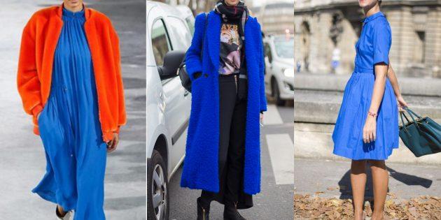 Самые модные цвета осени-зимы 2018/2019: Пронзительный голубой