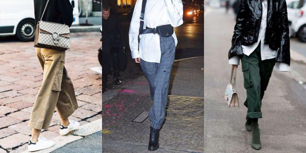 Самые модные женские брюки: Карго