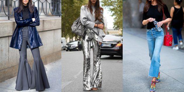 Самые модные женские брюки: Клёш от колена