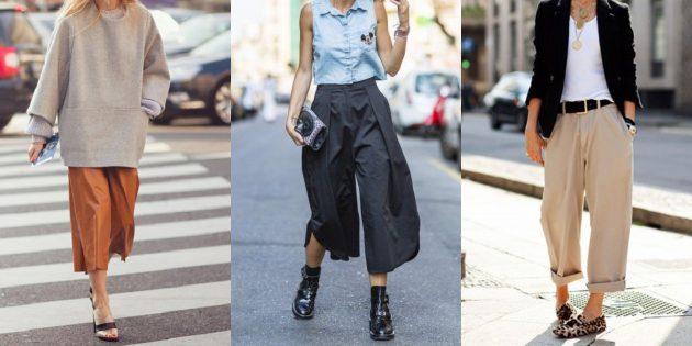 Самые модные женские брюки: Кюлоты