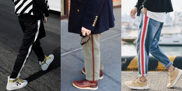 Самые модные мужские брюки: Брюки с лампасами