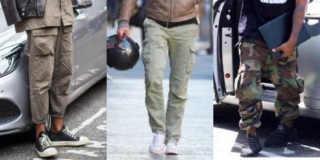 Самые модные мужские брюки: Брюки в стиле милитари