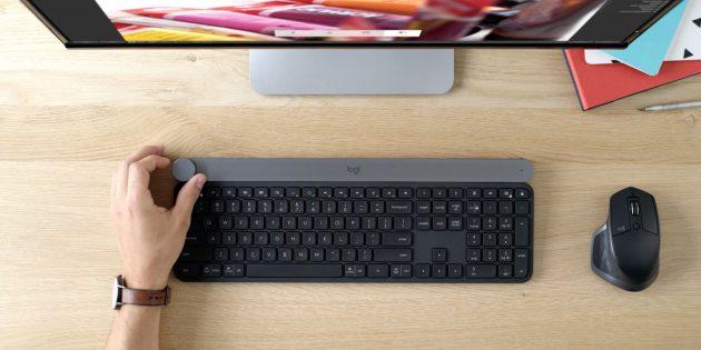Клавиатура Craft и мышь MX Master 2 от Logitech