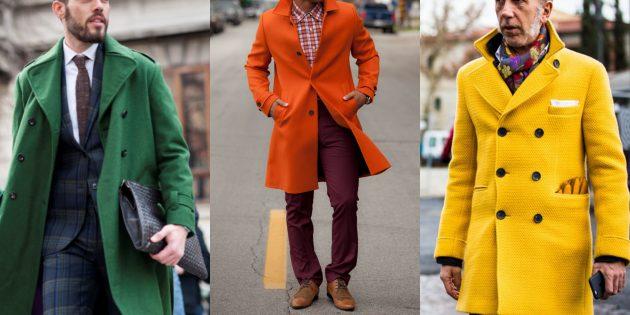 Летняя распродажа одежды и обуви для мужчин: Цветное пальто