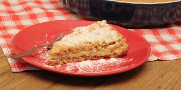 Пироги с грушами: Простой пирог с тёртыми грушами и яблоками