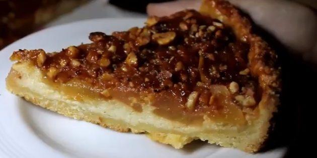 Рецепты пирогов с грушами: Пирог с карамелизированными грушами, рикоттой и орехами