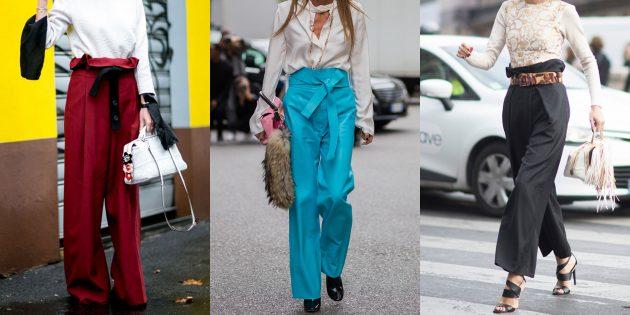 Самые модные женские брюки: Брюки paperbag