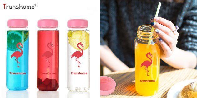 Бутылочка с фламинго
