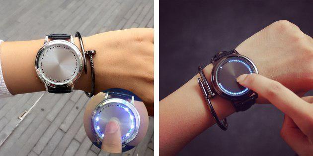 Наручные часы со светодиодами