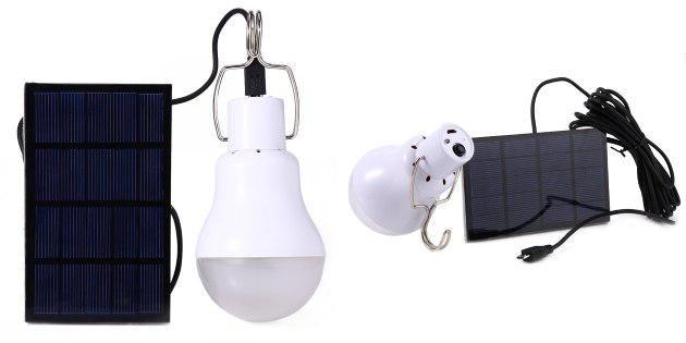 Лампочка с солнечной батареей