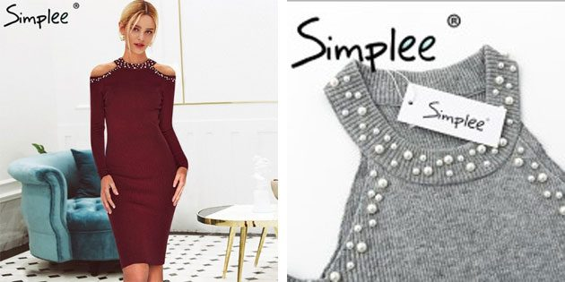 Элегантное платье Simplee