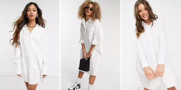 Белая рубашка-туника