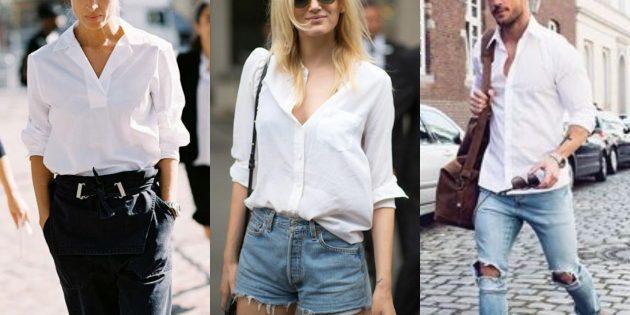 Классическая белая рубашка или блуза